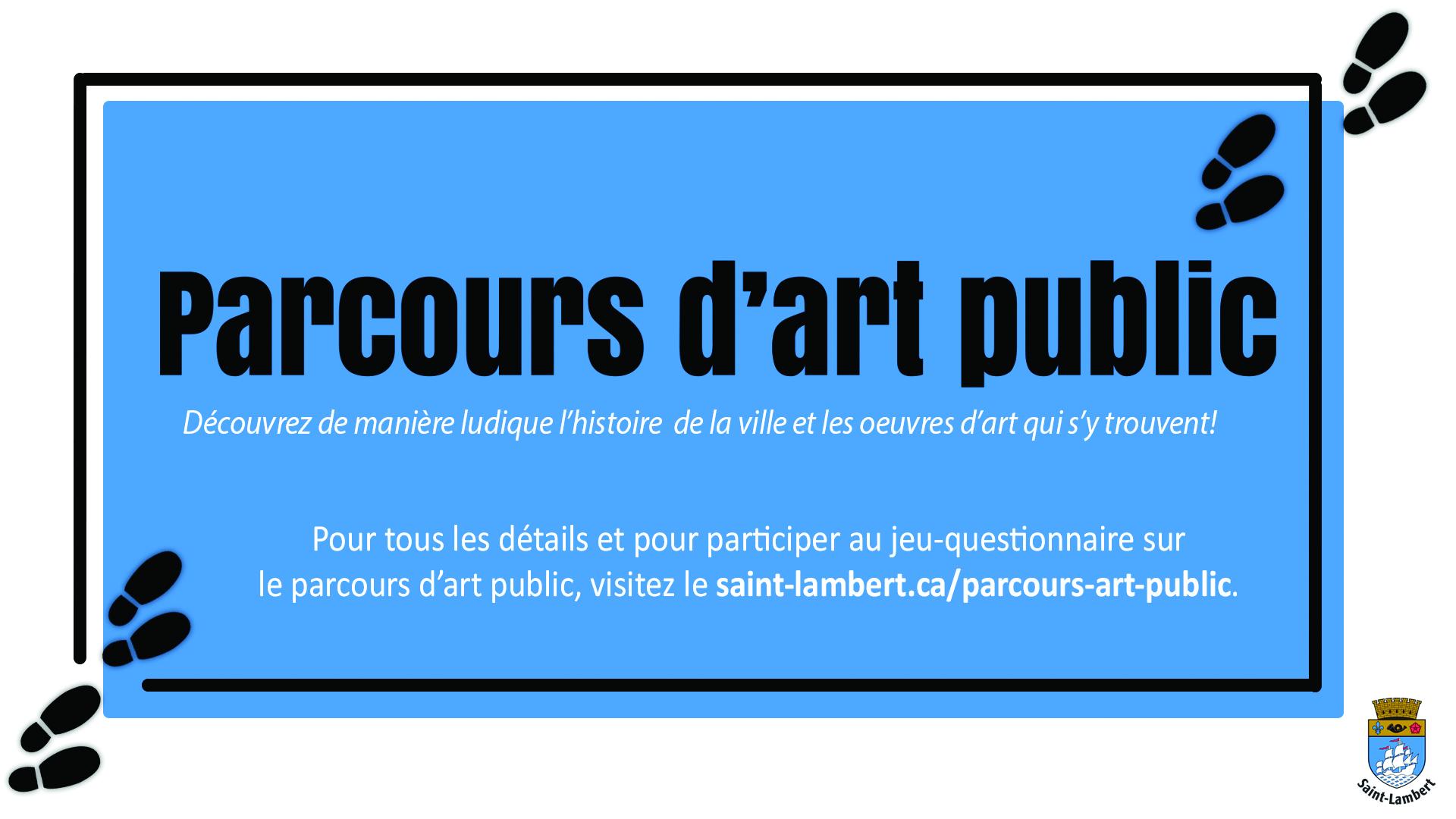 Participez au tout premier parcours d'art public de Saint-Lambert