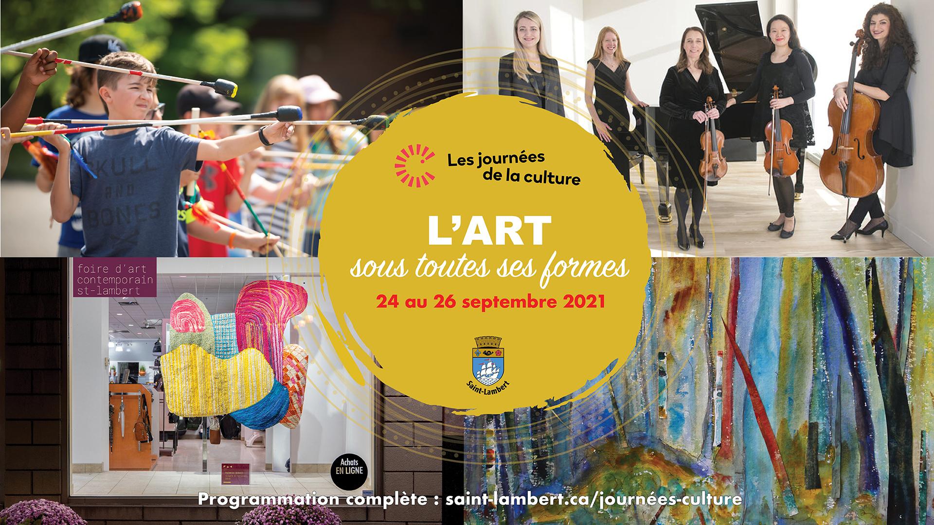 Découvrez l'art sous toutes ses formes   à Saint-Lambert lors des Journées de la culture!