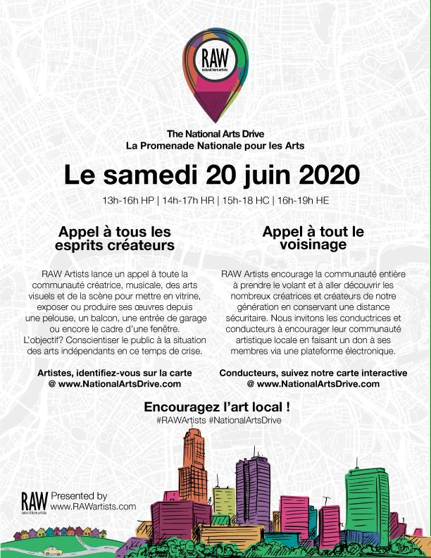 Le 20 juin, participez à La Promenade Nationale pour les Arts!