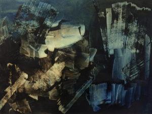 Anne Francoise Belanger Oeuvre Etat dame 1 huile sur papier 2019 15x21po 38x53cm
