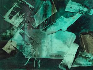 Anne Francoise Belanger Oeuvre Etat dame 4 huile sur papier 2019 15x21po 38x53cm